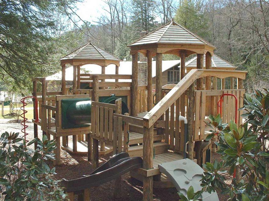 Back Playground Robert Lake Park Montreat