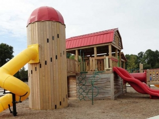 Knightdale Station Park Playground Side View
