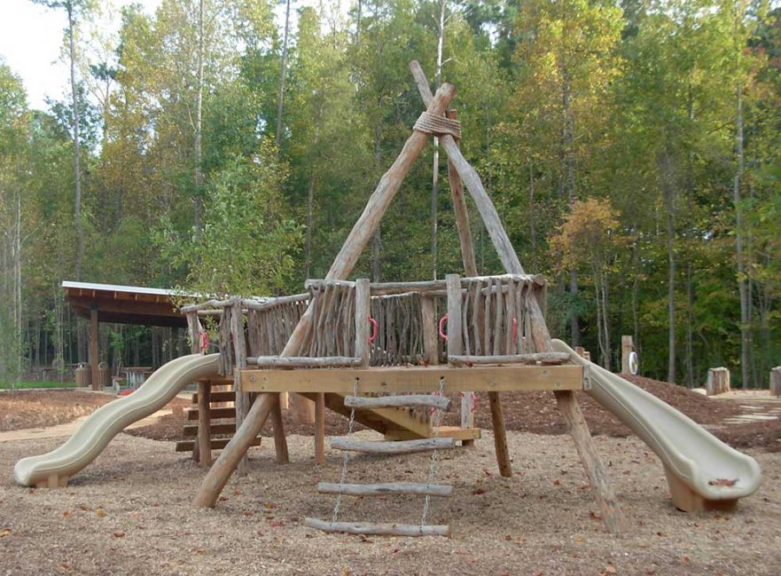 Locust Log Teepee Playground White Dear Park