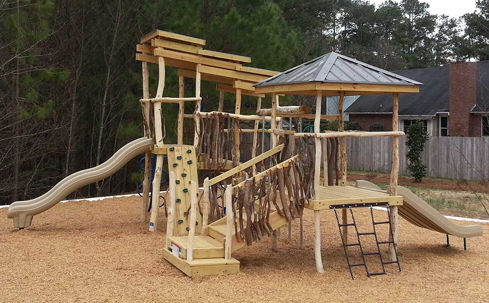 Rustic Features Playground Fayetteville