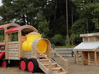 Train Knightdale Parks Station Playground