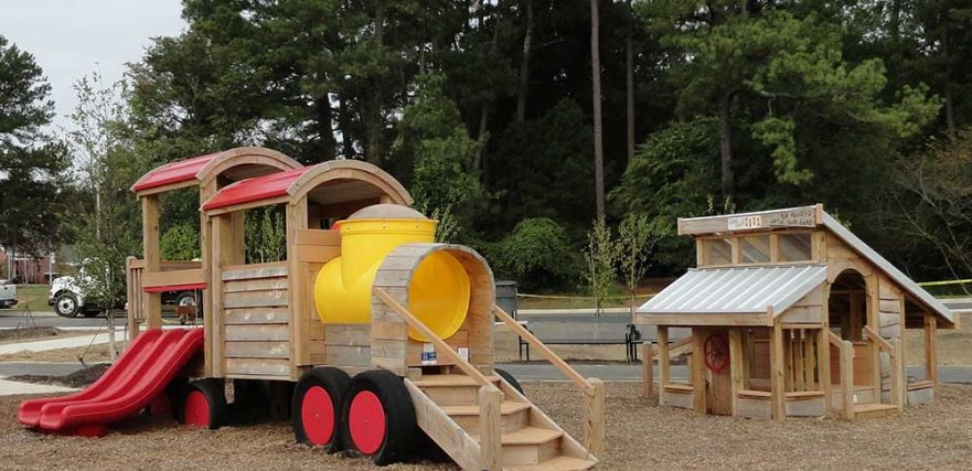 Train and Chicken Coop Play Set Knightdale
