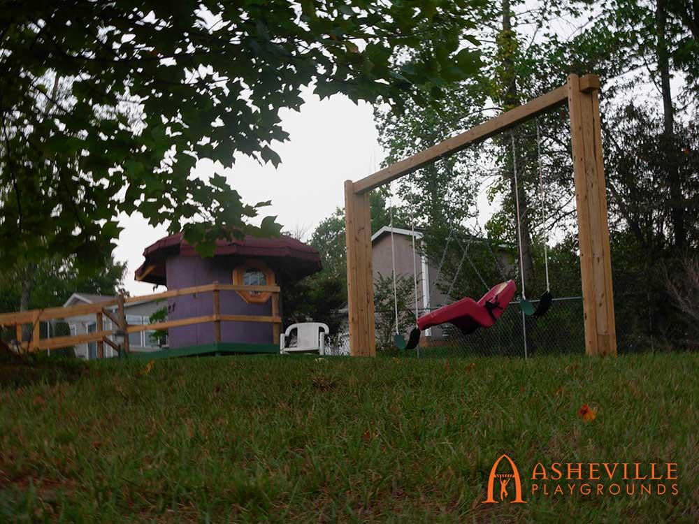 Mushroom Playhouse and Swing Set