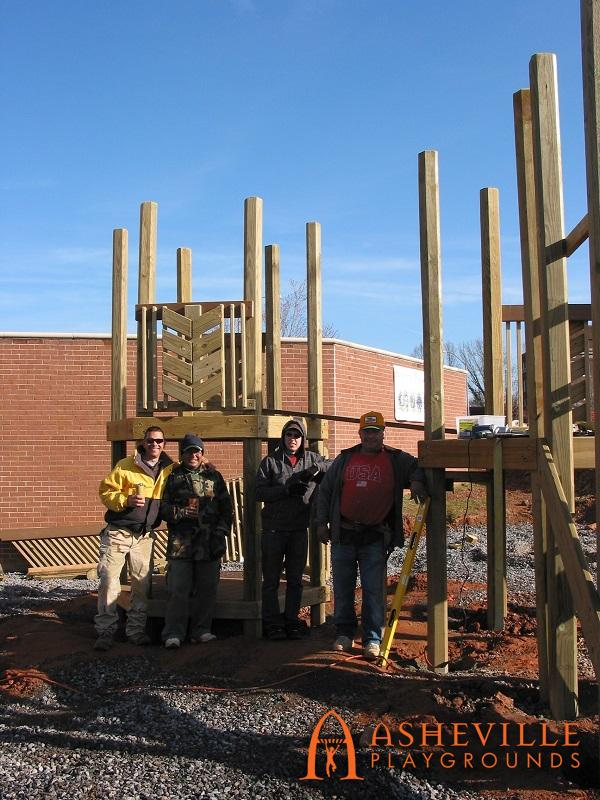 FBCA Post Structures Going Up