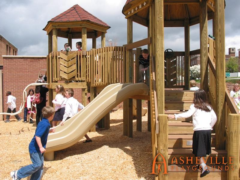 Kids Getting First Time on Playground