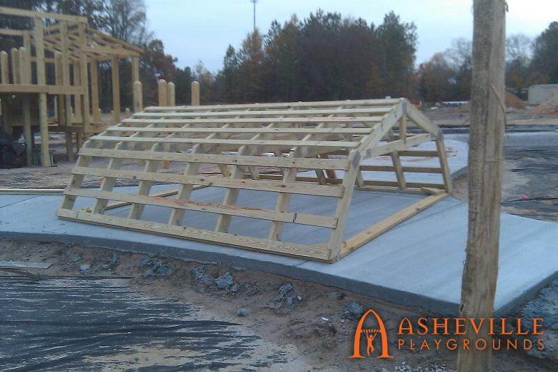 Knightdale Barn Themed Roof Progress