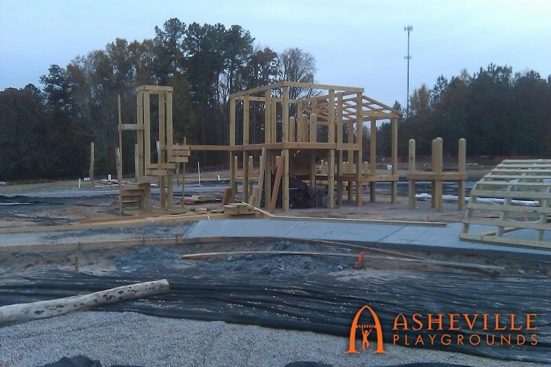 Knightdale Barn Themed Structure Progress