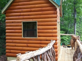 Residential Play Cabin Up Close