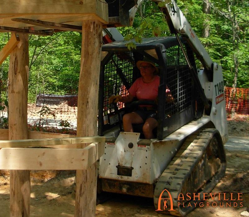 Rock Ridge Natural Playground Evelyn Bobcat