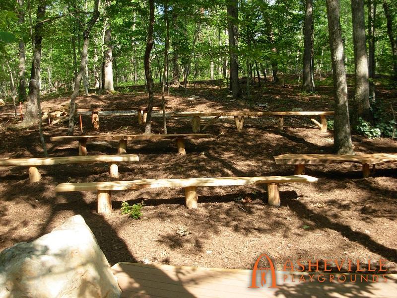 Rock Ridge Park Natural Amphitheater Benches