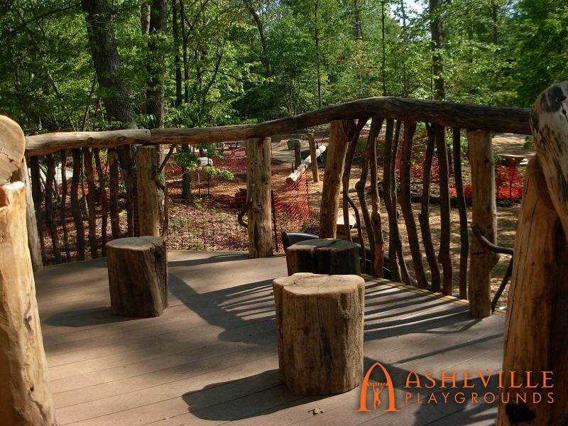 Rock Ridge Park Natural Playground Main Deck