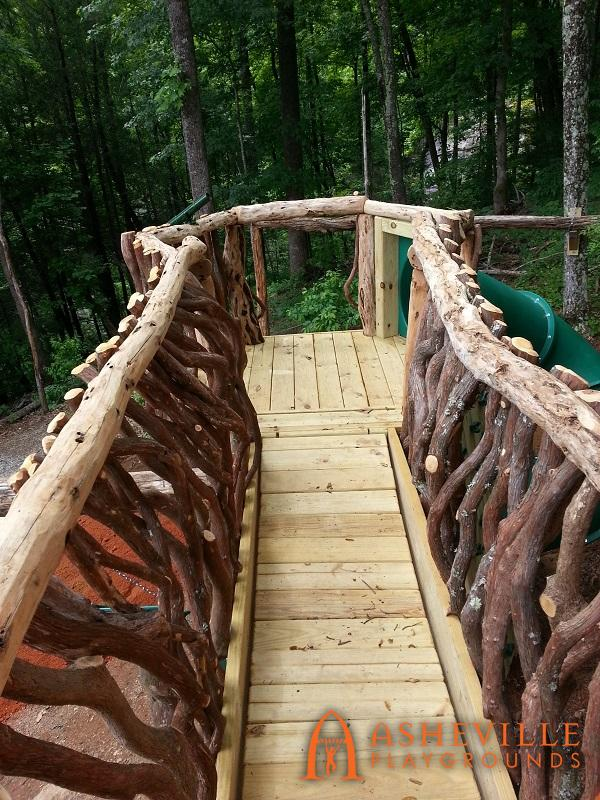 View from Residential Play Cabin to Hex Deck